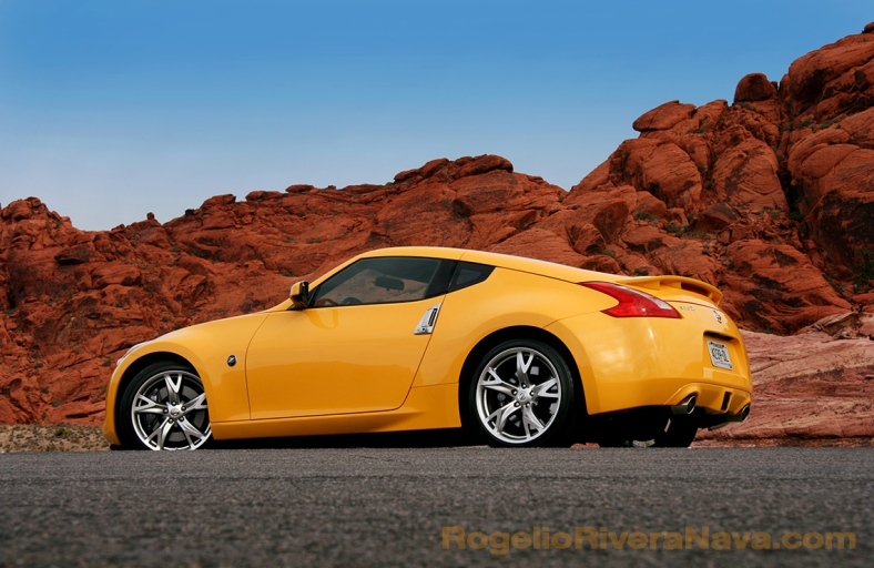 2008 Nissan 370 Z three quarter rear beauty, North America press launch, Red Valley, Nevada, USA  [ Focal lenght: 41 | Shutter speed: 1/125 | f number: 9 ]