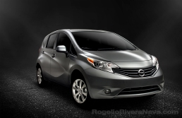 2013 Nissan Note (Versa Note in USA), three quarter beauty, studio shot, CGI scene