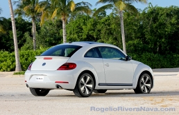 2012 VW Beetle, three quarter rear beauty, Mexican press launch, Riviera Maya, Quintana Roo, Mexico