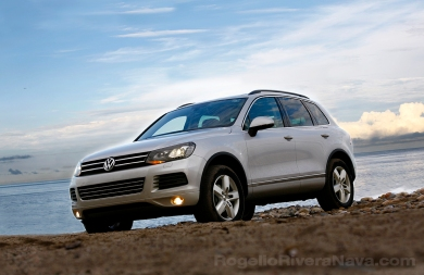 2012 VW Touareg, three quarter front beauty on beach, Puerto Vallarta, Jalisco, Mexico