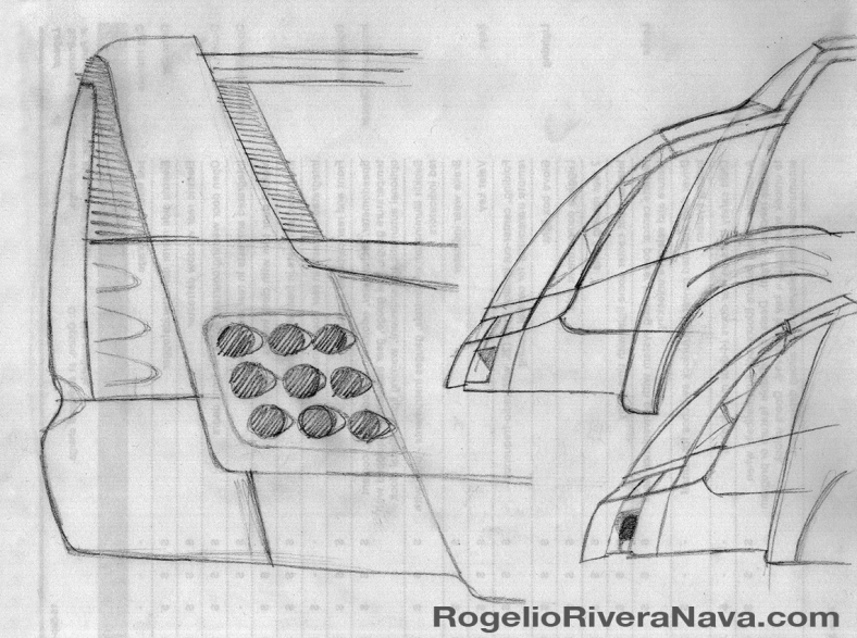 Sketch by Rogelio Rivera Nava (circa April 2001) / rogelioriveranava.com