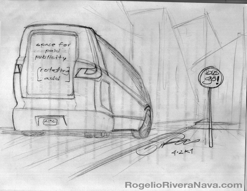 Sketch by Rogelio Rivera Nava (April 2001) / rogelioriveranava.com