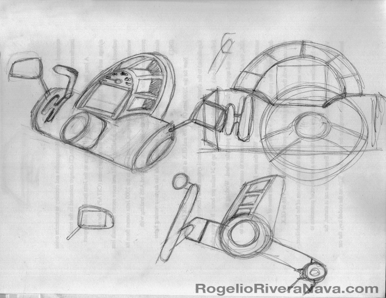 Sketch by Rogelio Rivera Nava (circa March 2001) / rogelioriveranava.com