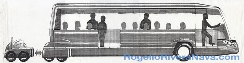 Rendering (hard copy) by Rogelio Rivera-Nava (circa February 2001) / rogelioriveranava.com