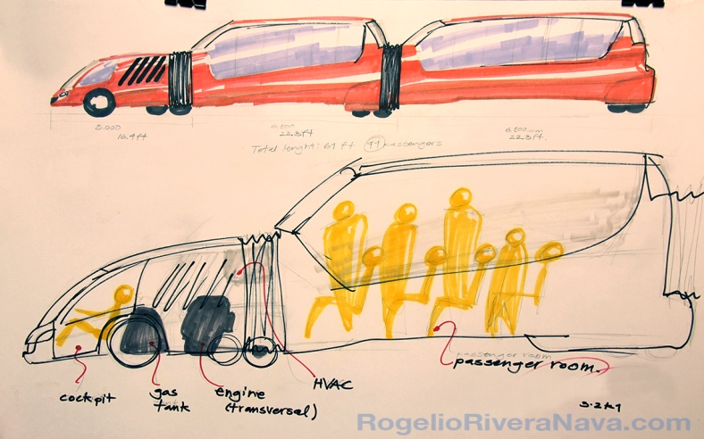 Sketch by Rogelio Rivera Nava (February 3, 2001) / rogelioriveranava.com